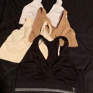 Set of 4 pullover bras (Hanes & Danskin) 2XL